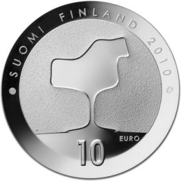 10 Euroa 2010 Eero Saarinen Proof