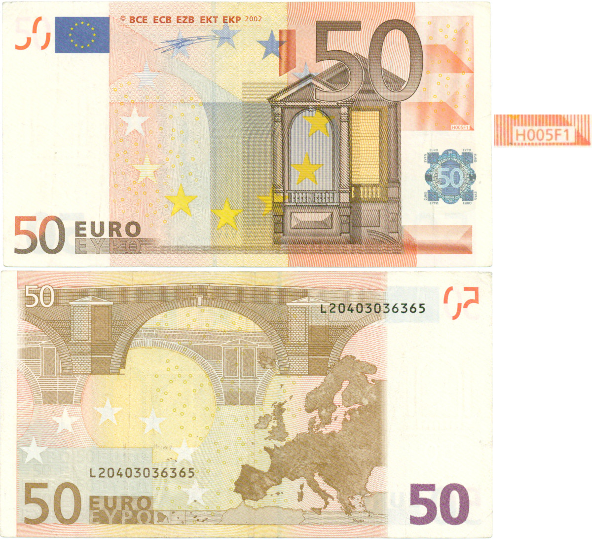Arvokas 50 Euron Seteli